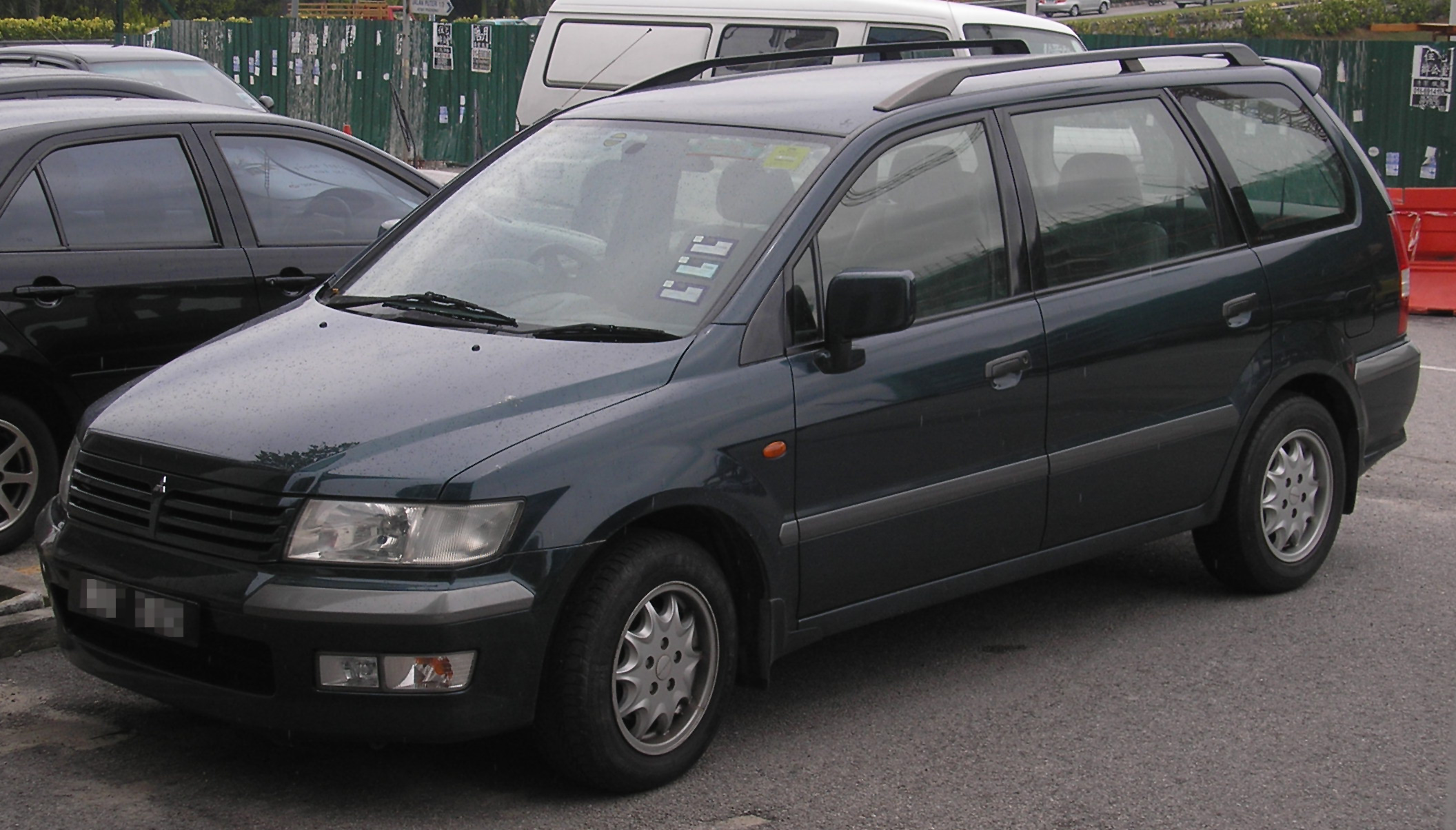 file mitsubishi space wagon third generation front wikimedia commons. Black Bedroom Furniture Sets. Home Design Ideas