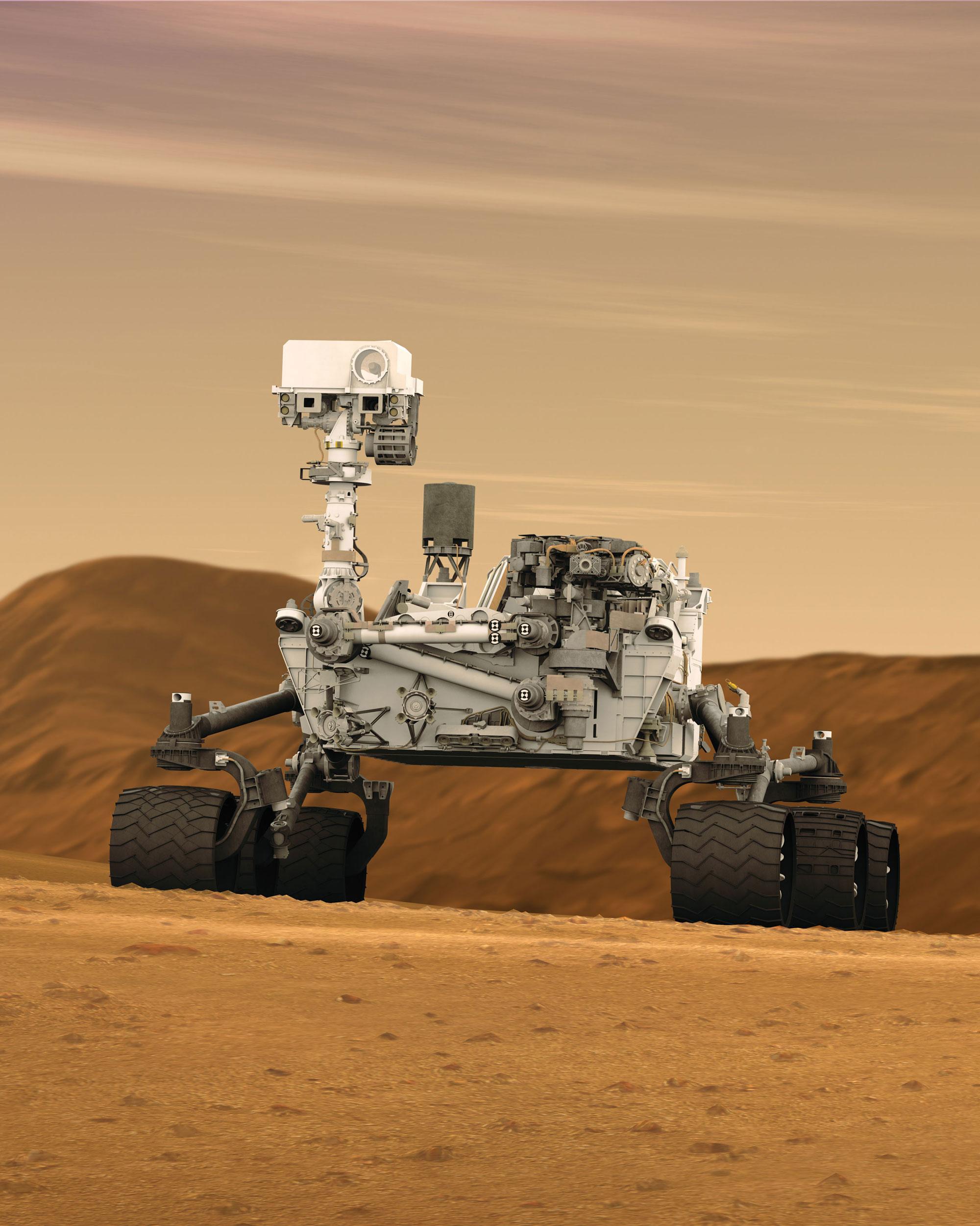 中学 中学 数学一年 : Mars Rover Curiosity
