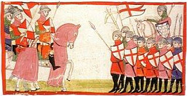 A 14th century conflict between Guelph and Ghibelline factions as portrayed in the Nuova Cronica by Giovanni Villani NuovaFlorence.jpg