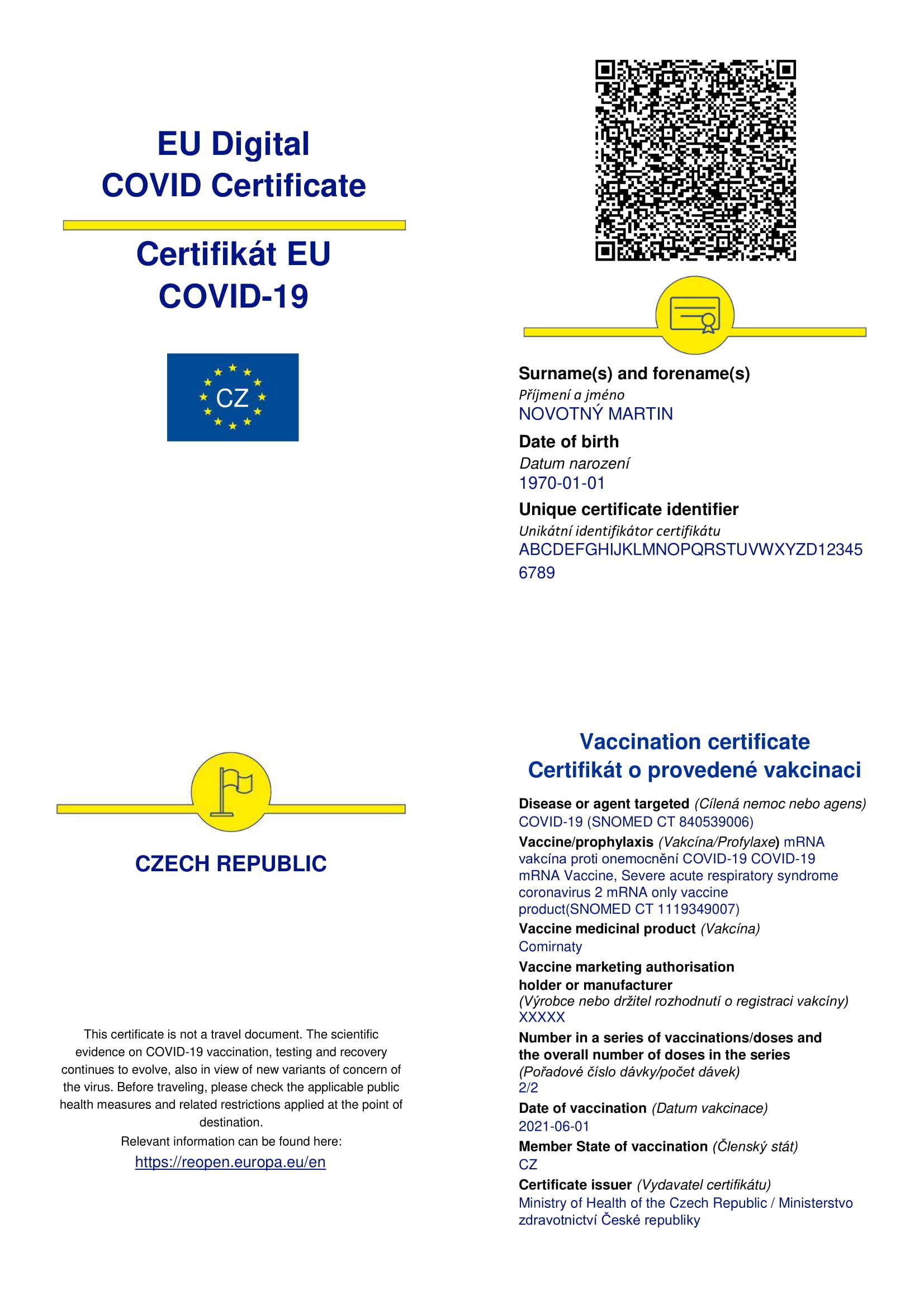 Passe sanitaire européen — Wikipédia