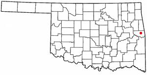 Akins, Oklahoma CDP in Oklahoma, United States
