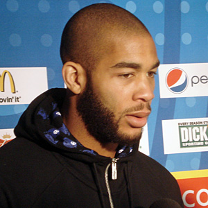 Oguchi Onyewu at media roundtable during World Cup 2010-06-17.JPG