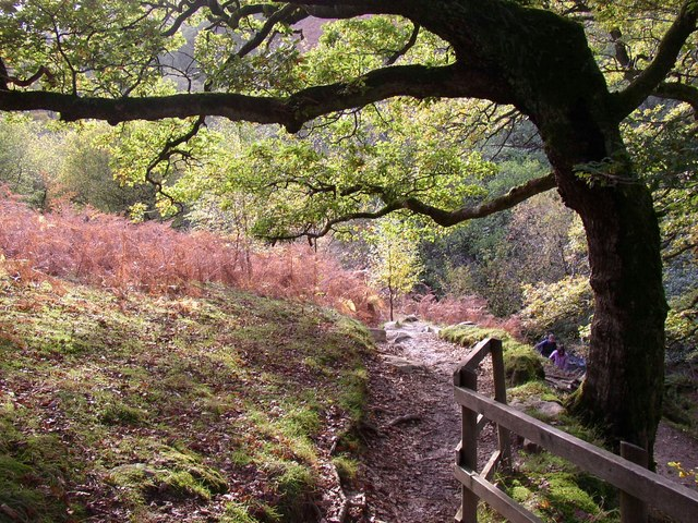 Path to Aira Force up the eastern side of the ravine, Watermillock township, Matterdale CP - geograph.org.uk - 280234