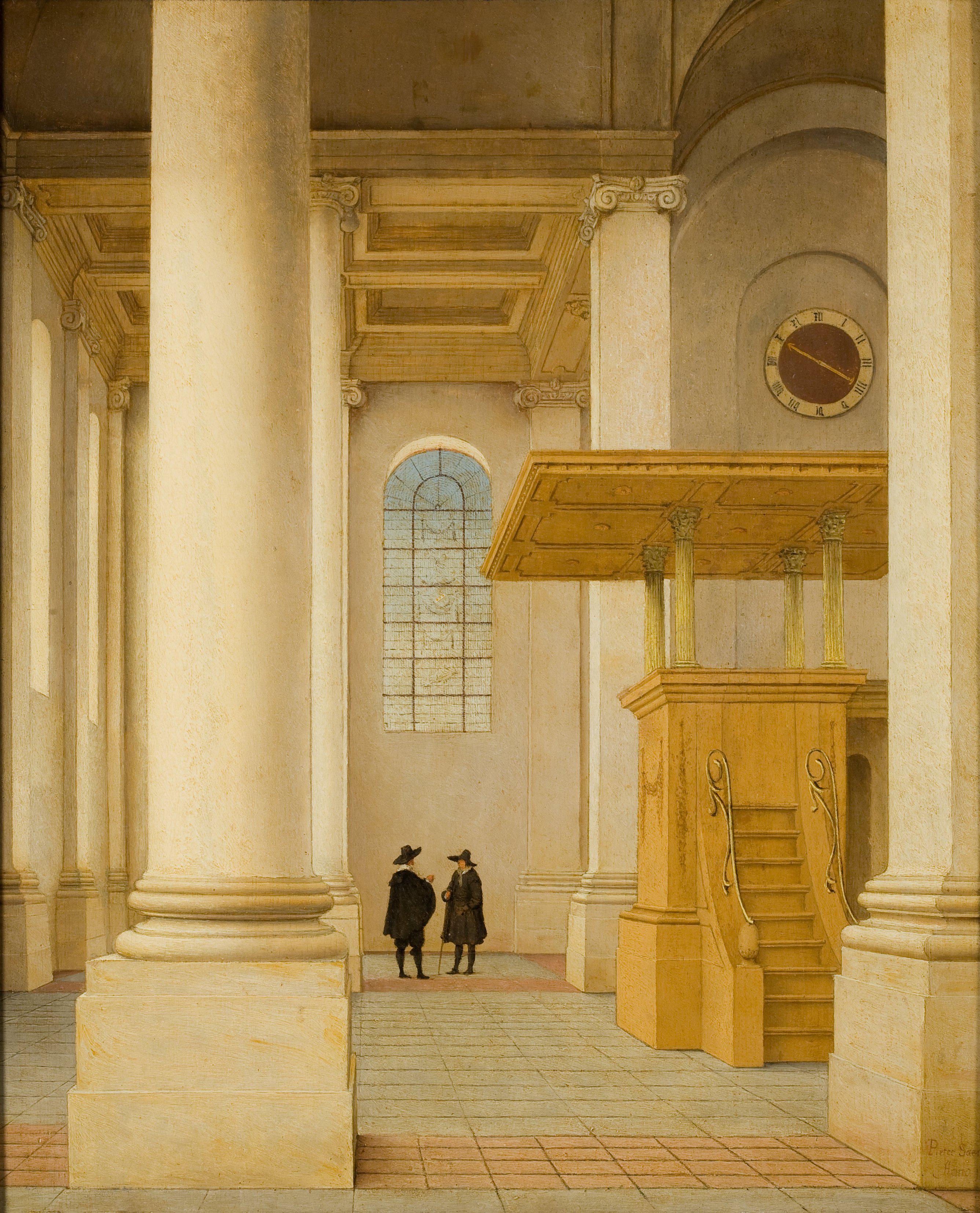 File pieter saenredam interieur van de nieuwe kerk te for Interieur haarlem