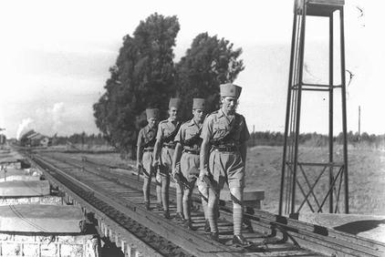 תחנת רכבת חדרה מזרח-נוטרים עבריים בשמירה 1944