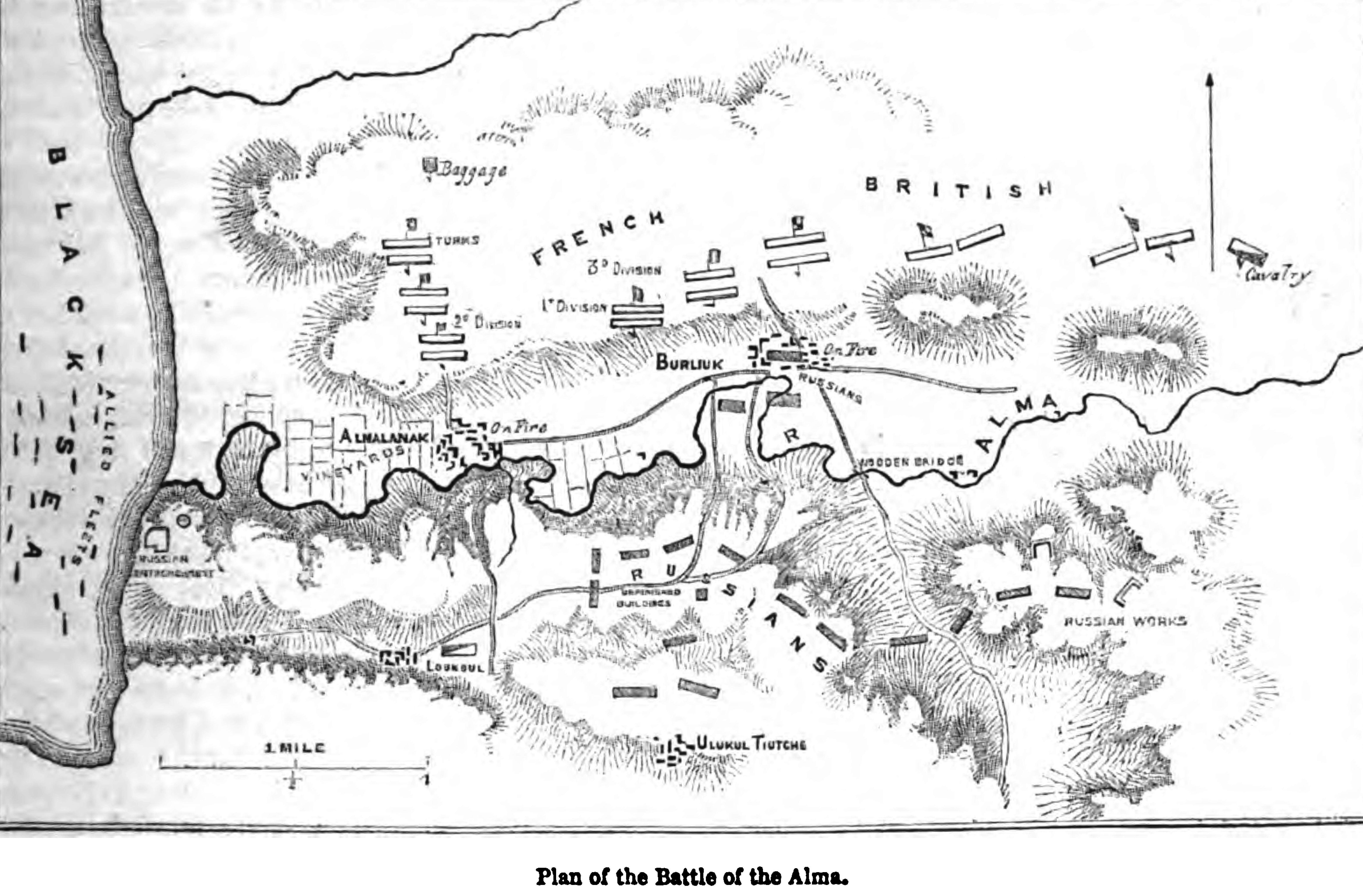 File:Plan of the Battle of the Alma. George Dodd. Pictorial ...