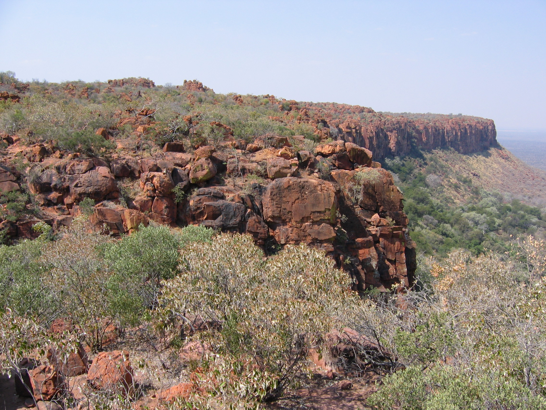 Rand des Waterberg-Plateaus
