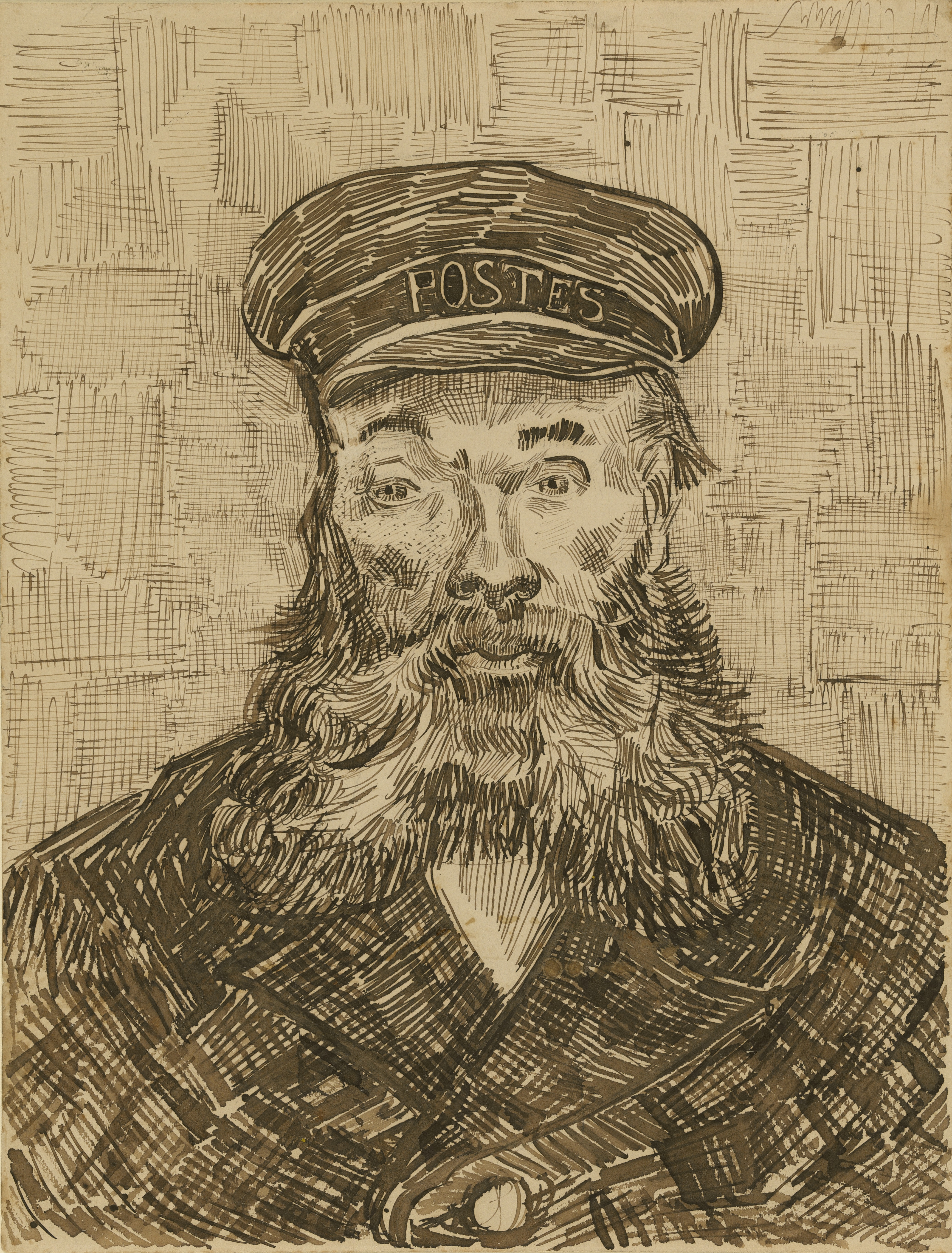 Portrait of the Postman Joseph Roulin (1888) van Gogh Getty