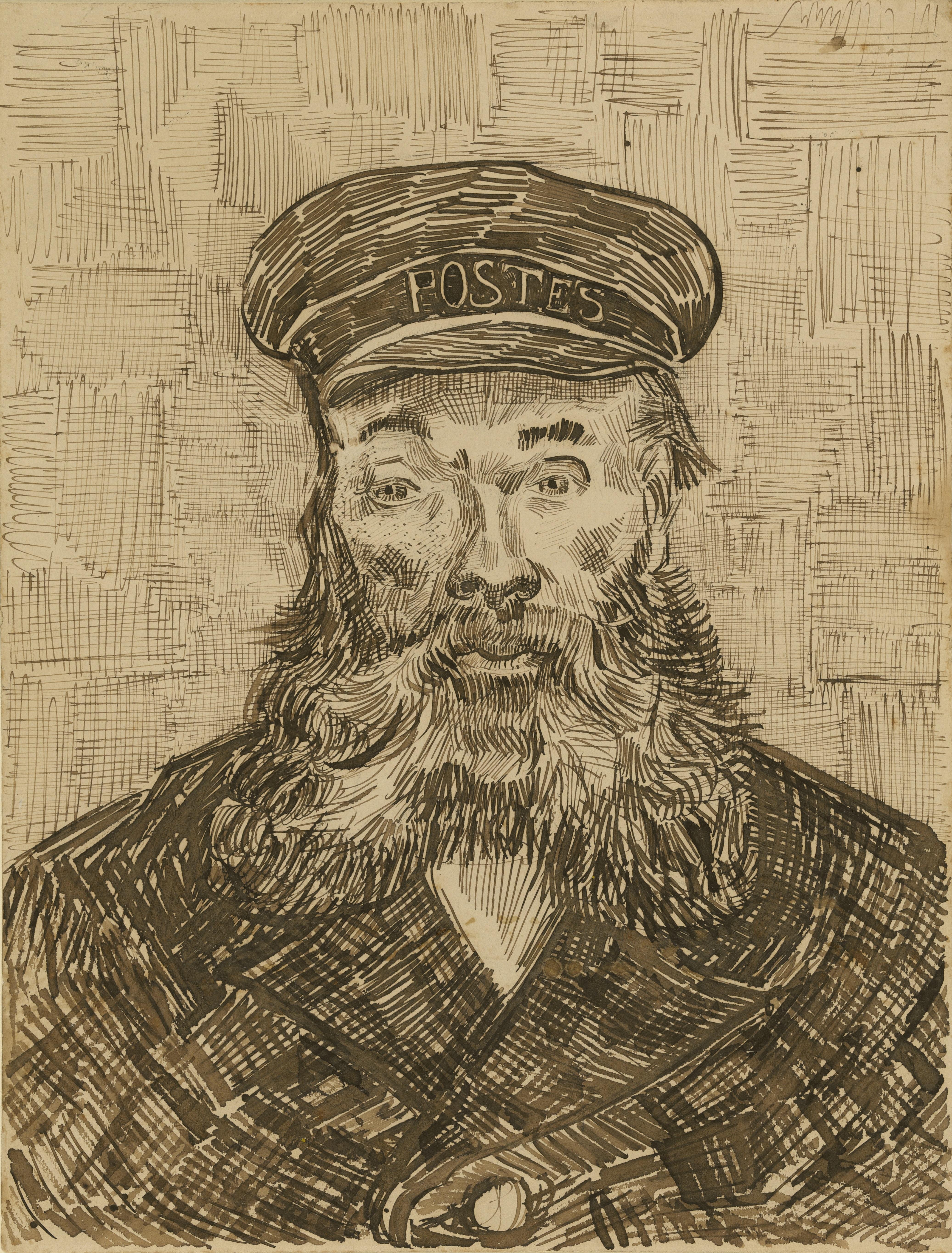 Line Drawing By Vincent Van Gogh : Van gogh drawing blowing drifting