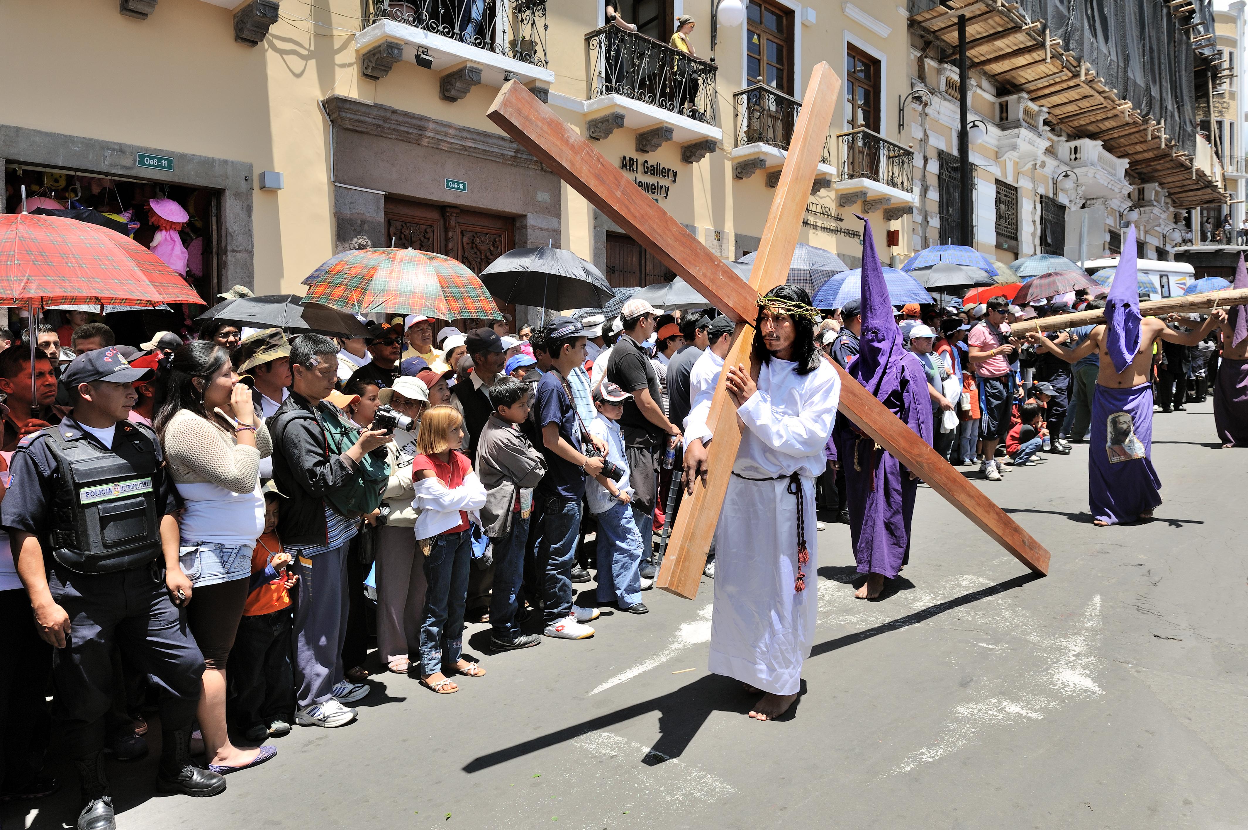 Quito, Ecuador, Good Friday 2010: Street proce...