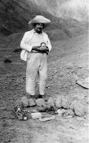 Rafael Larco Hoyle at an excavation at Peru, 1935.