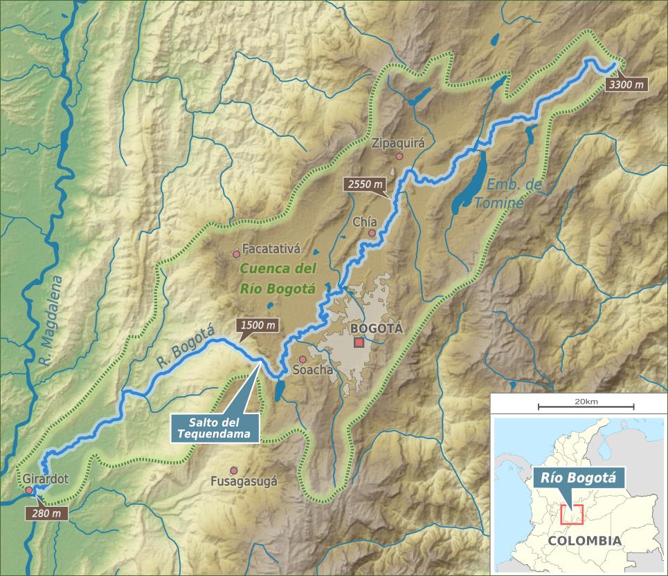 on bogota map