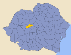 Location of Târnava-Mică