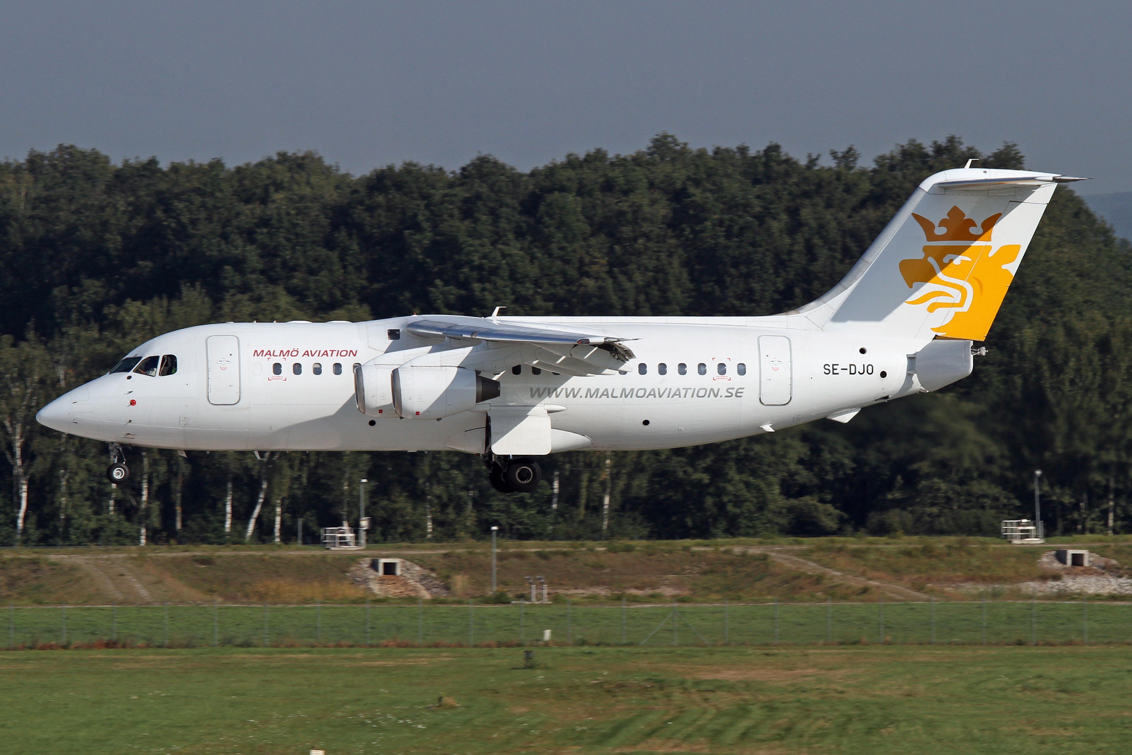 Scw8081 Malmo Aviation Rj 85 Rj85 Se Djo Ykoon