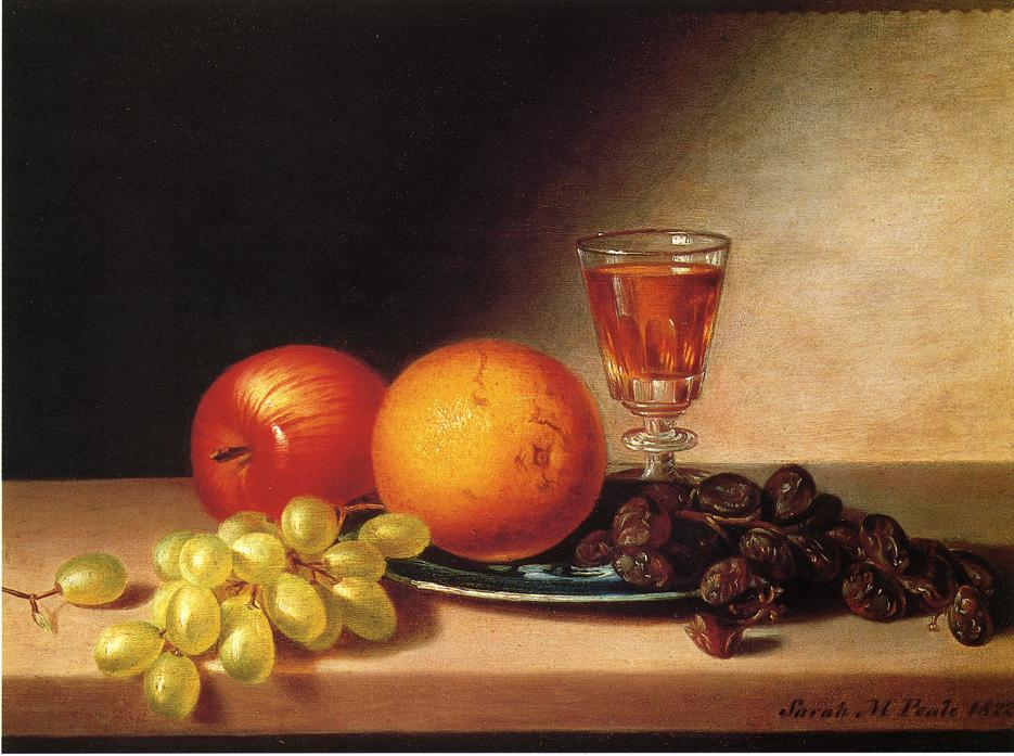 File:S M Peale - Fruits and Wine - 1822.jpg - Wikimedia Commons