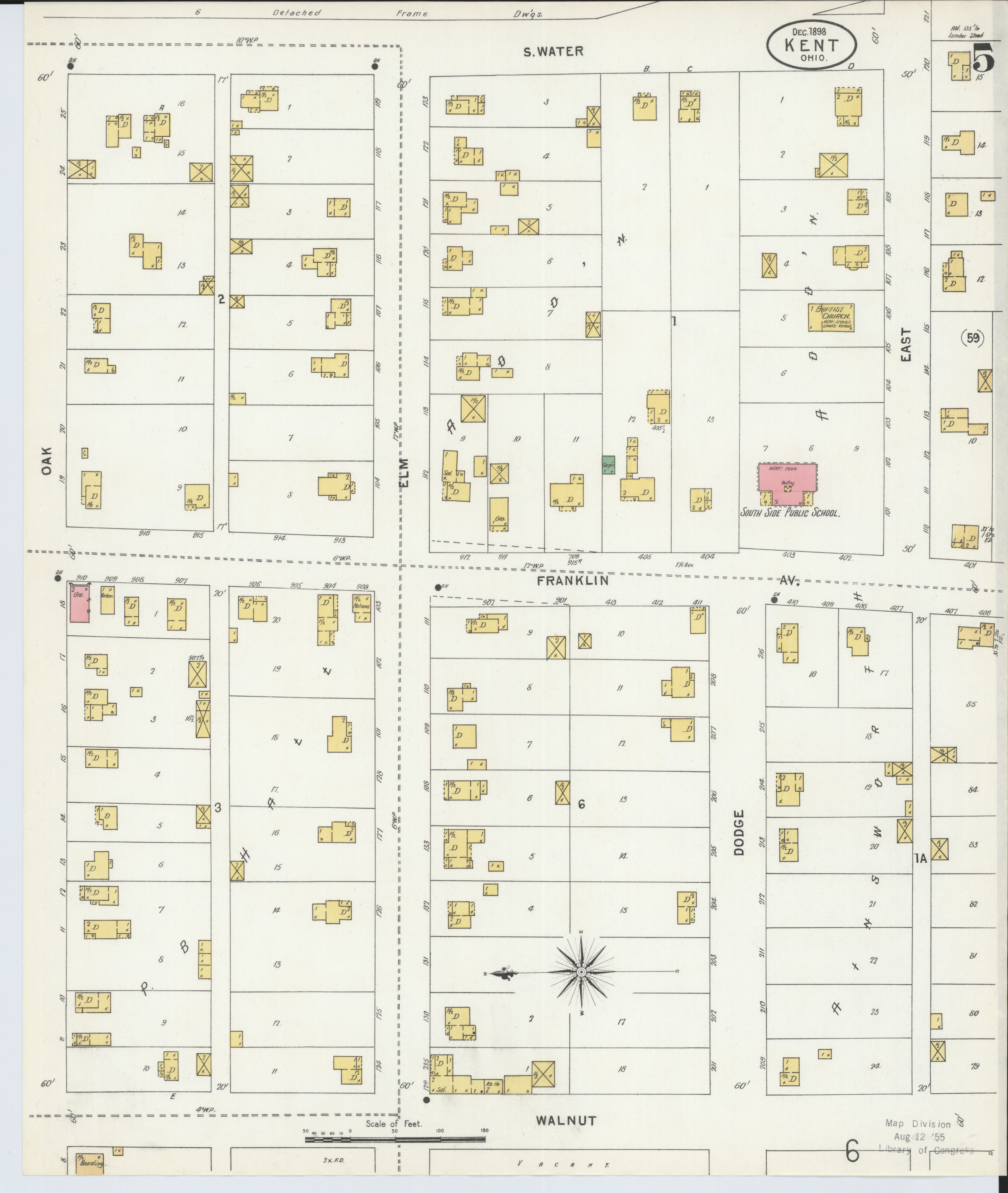 File Sanborn Fire Insurance Map From Kent Portage County Ohio Loc