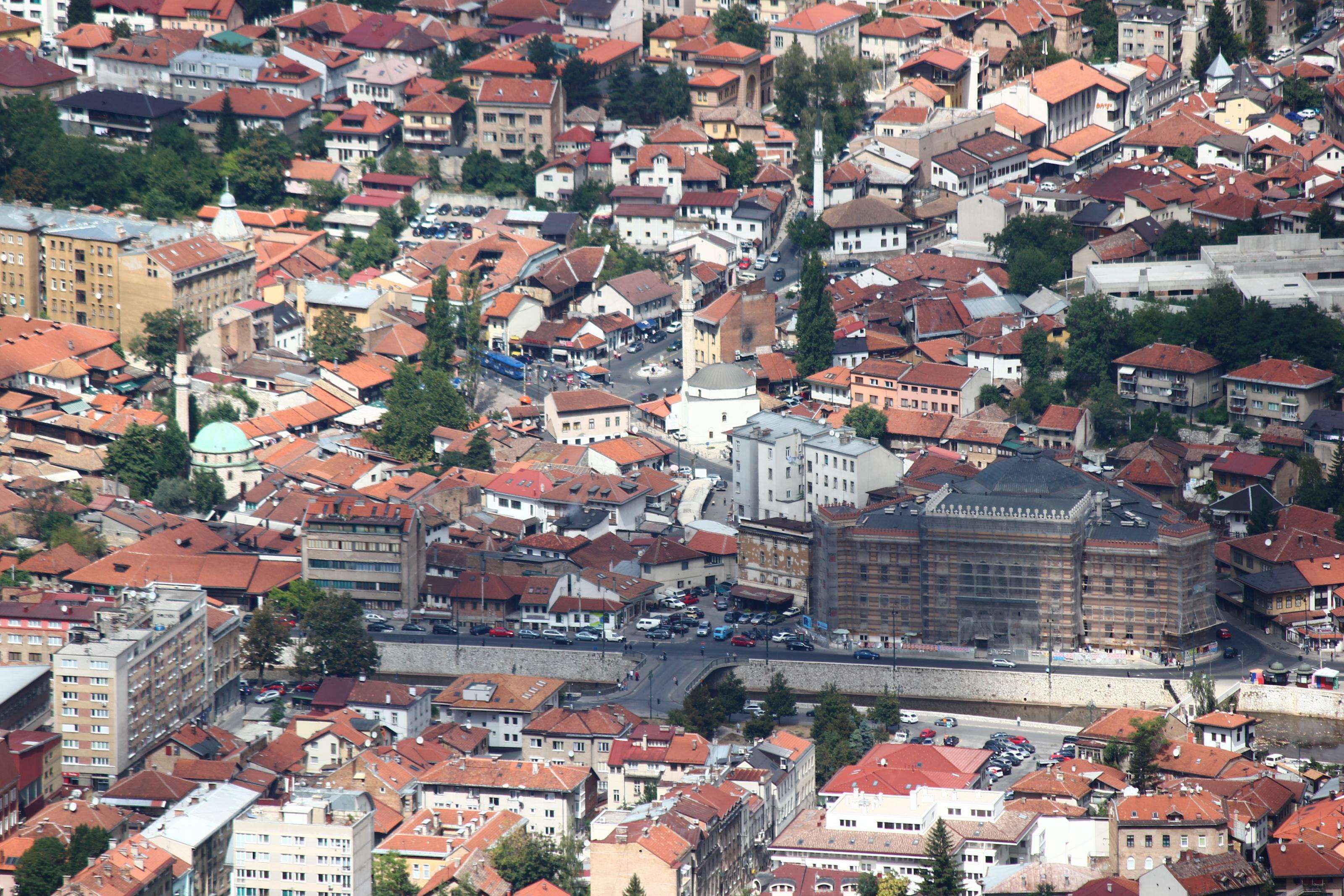 File sarajevo bascarsija from trebevic jpg wikimedia commons