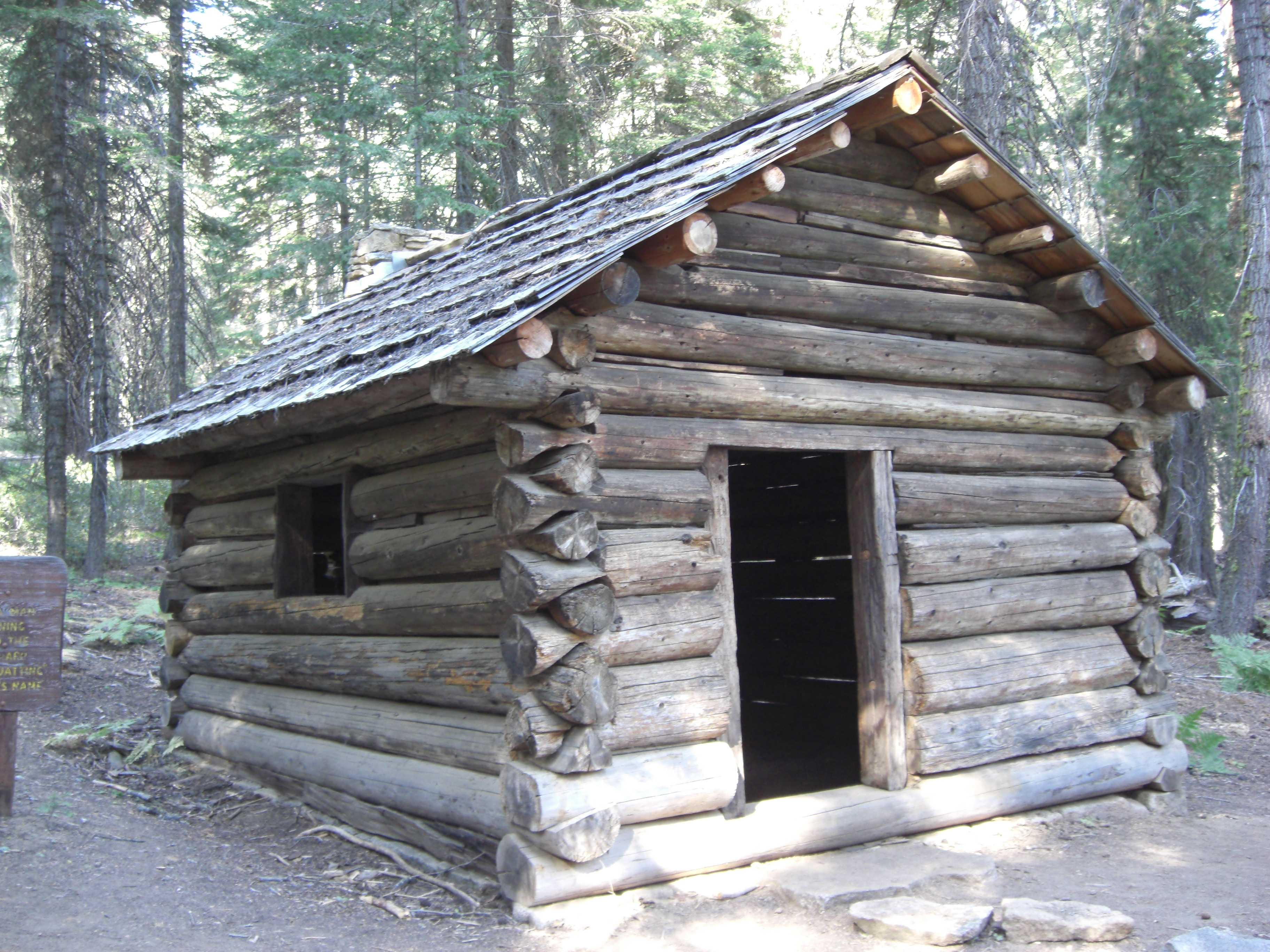 in cabin rock muirs and mr grant a bed only suite oldest grove s honeymoon sequoia cabins known with trees the is as single it spiders national at big forest since one muir