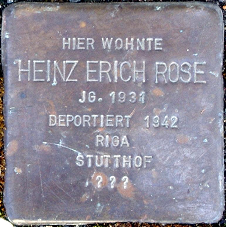 Stolperstein Rose, Heinz Erich.jpg
