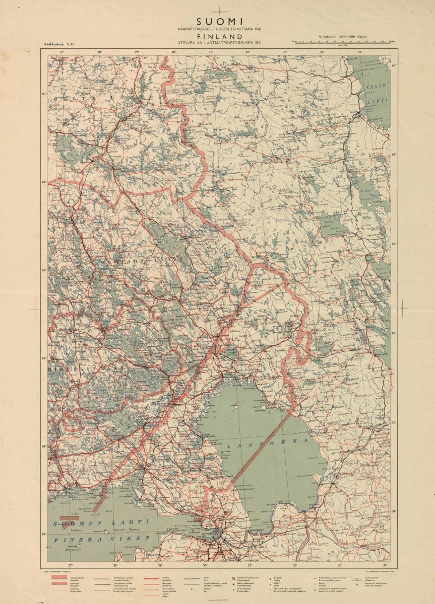File Suomen Kaakkoisosa 1941 Jpg Wikimedia Commons