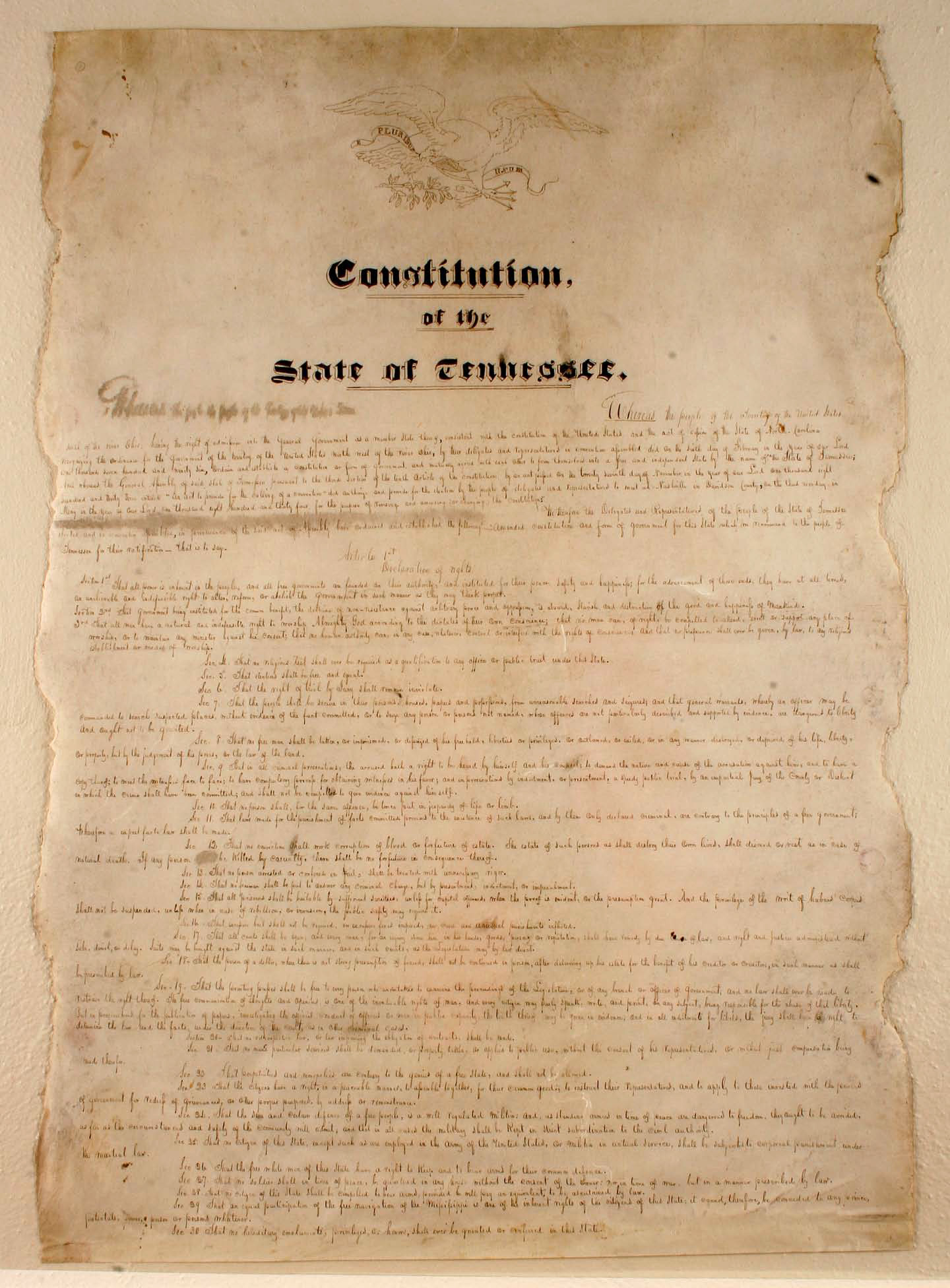 Constitution of Tennessee - Wikipedia, the free encyclopedia