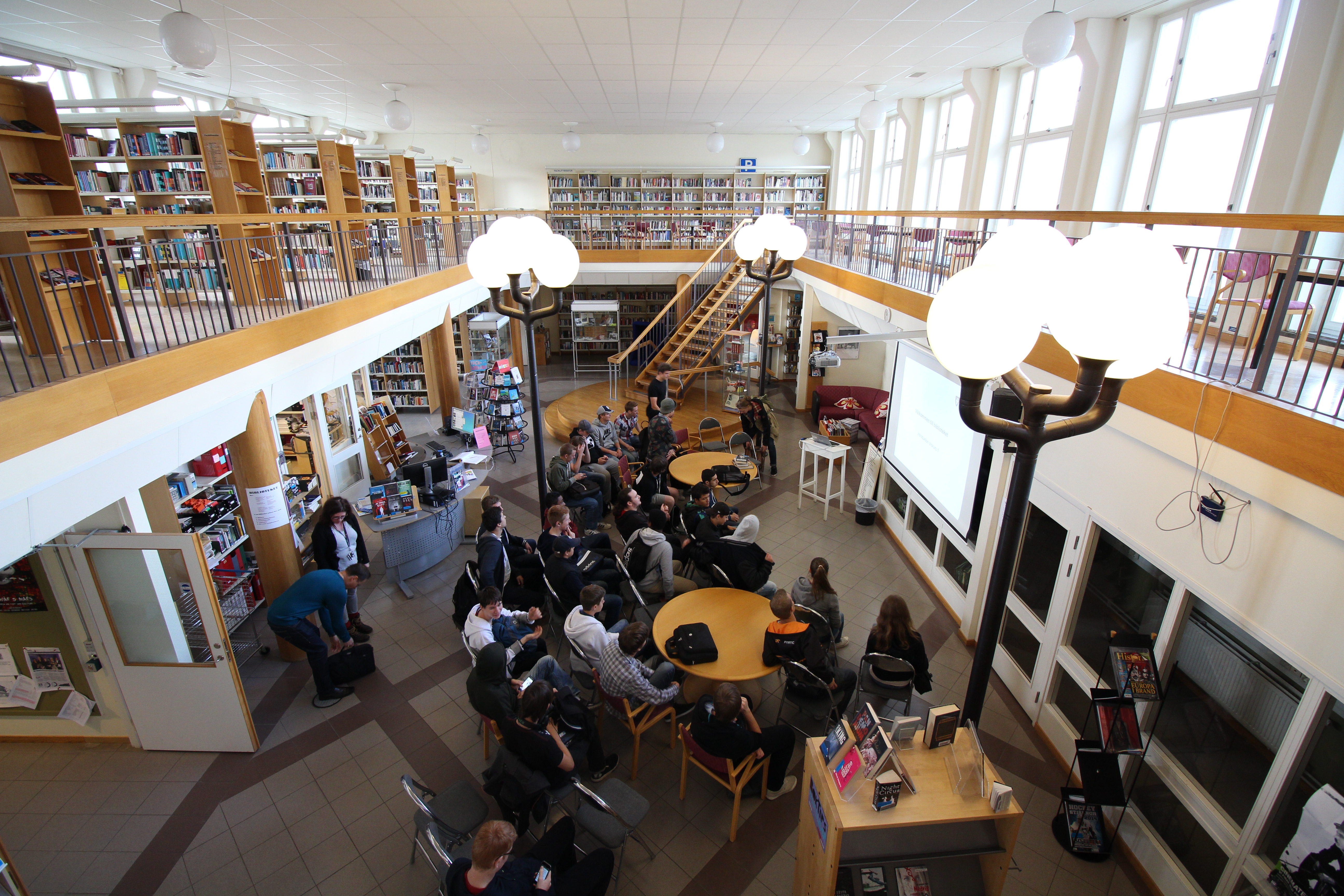 bibliotek database