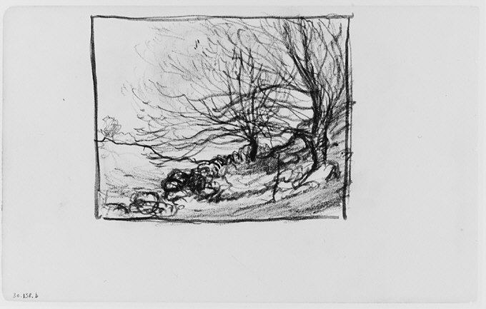 File:Two Trees on a Hill (from Sketchbook) MET 263368.jpg
