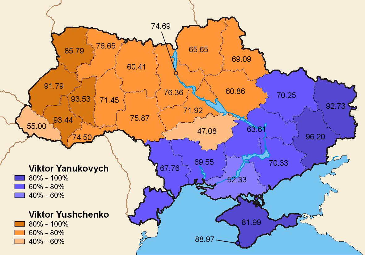 politisk karta Ukraina