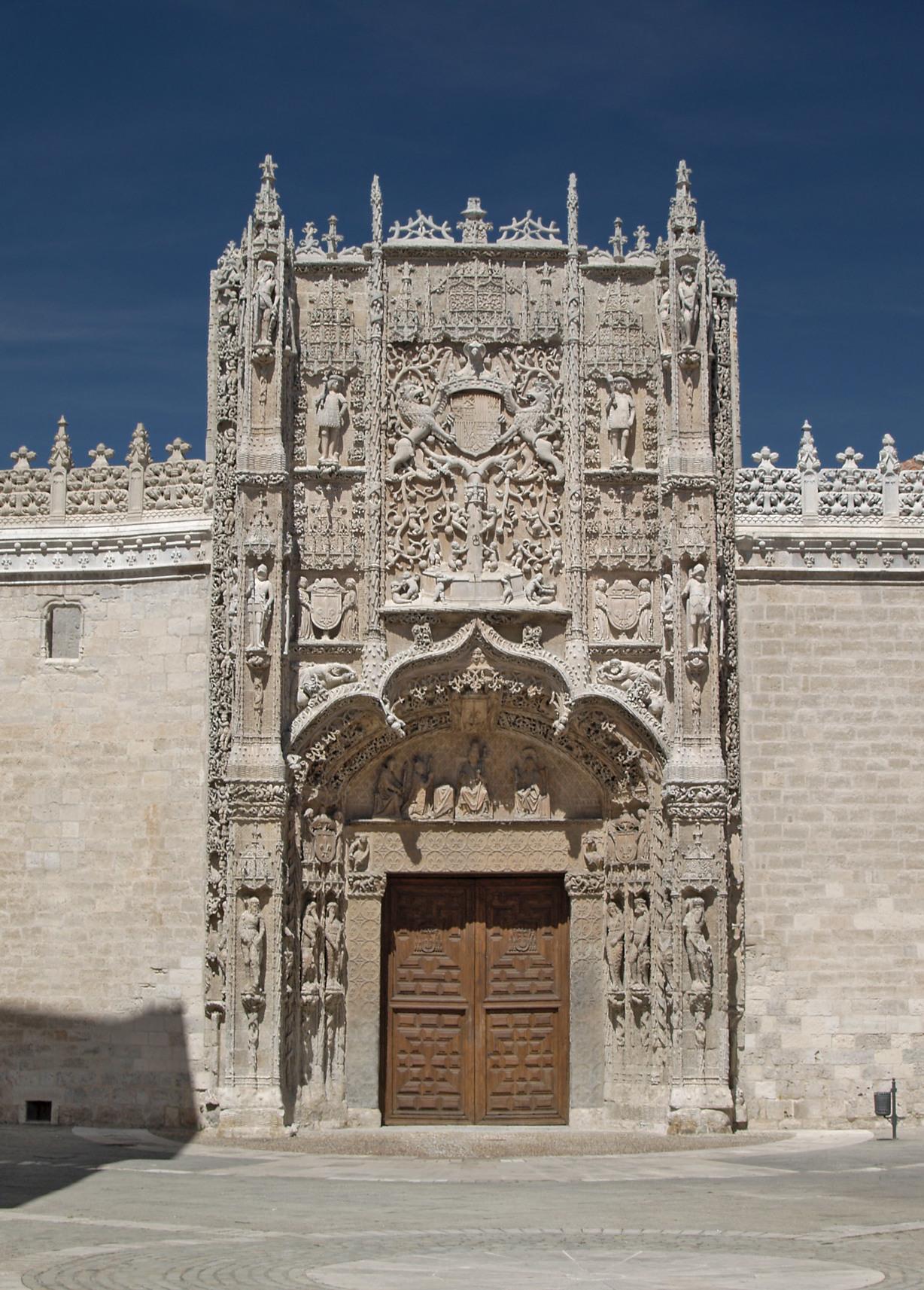 Fachada del colegio de San Gregorio, sede del Museo Nacional de Escultura