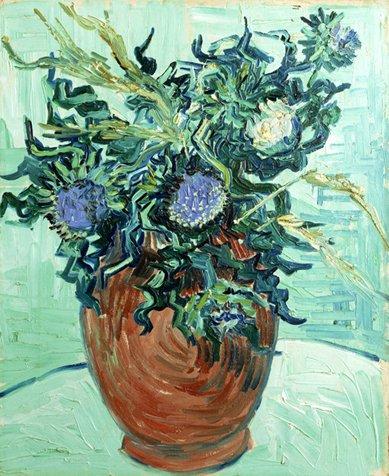 File Van Gogh Vase Mit Blumen Und Disteln Jpeg