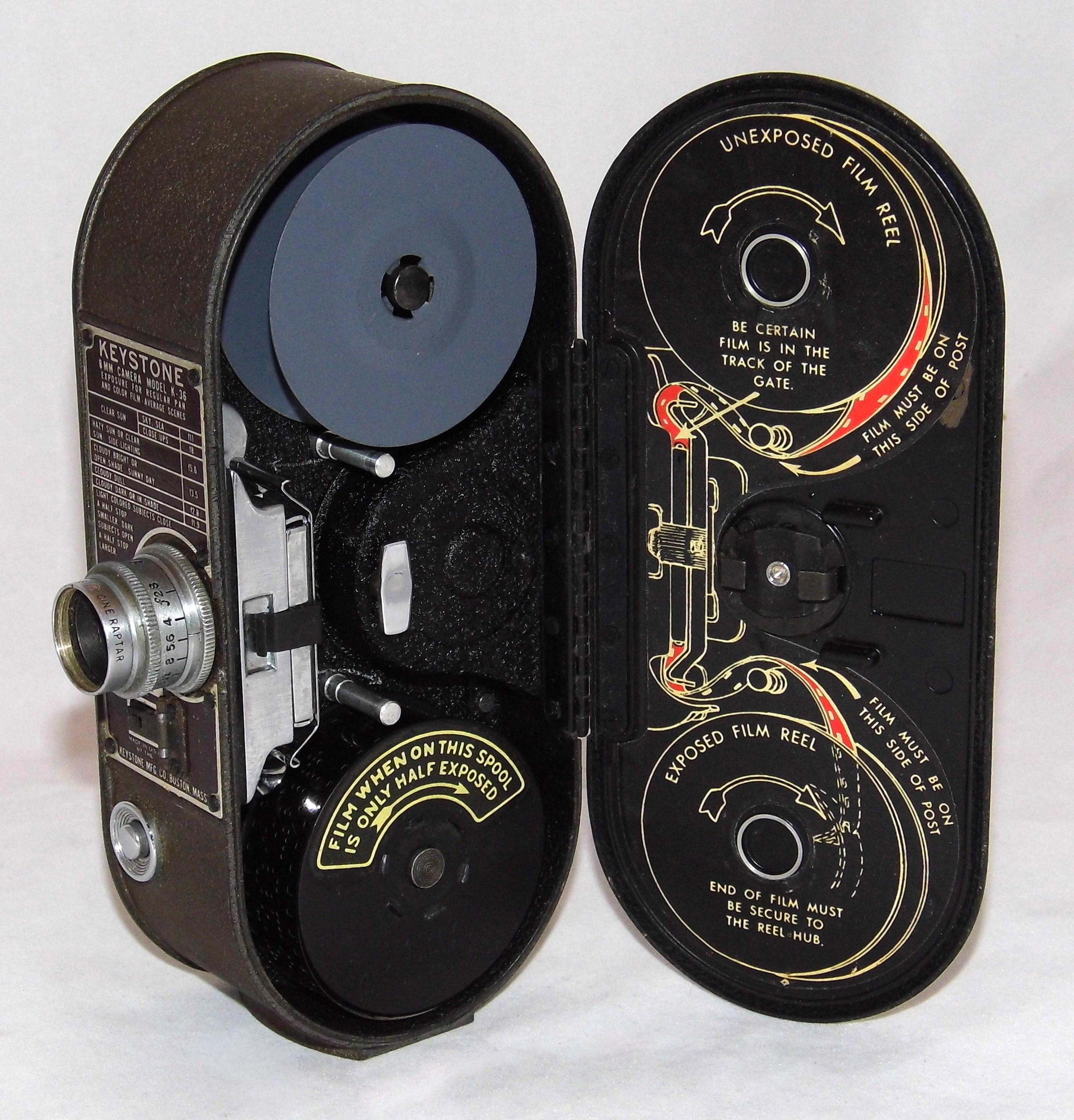 filevintage keystone 8mm home movie camera model k36