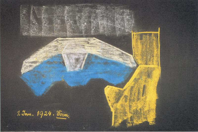 Datei:Wandtafelbild - Gotheanum-Motiv (1924).jpg