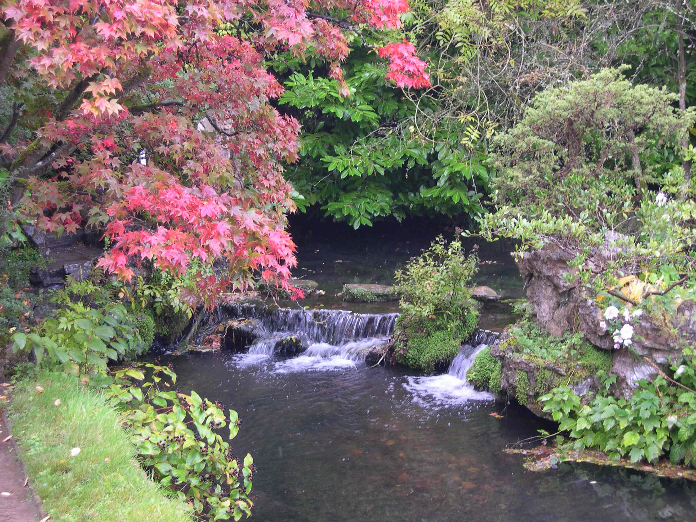 File Waterfall Japanese Garden Jpg Wikipedia