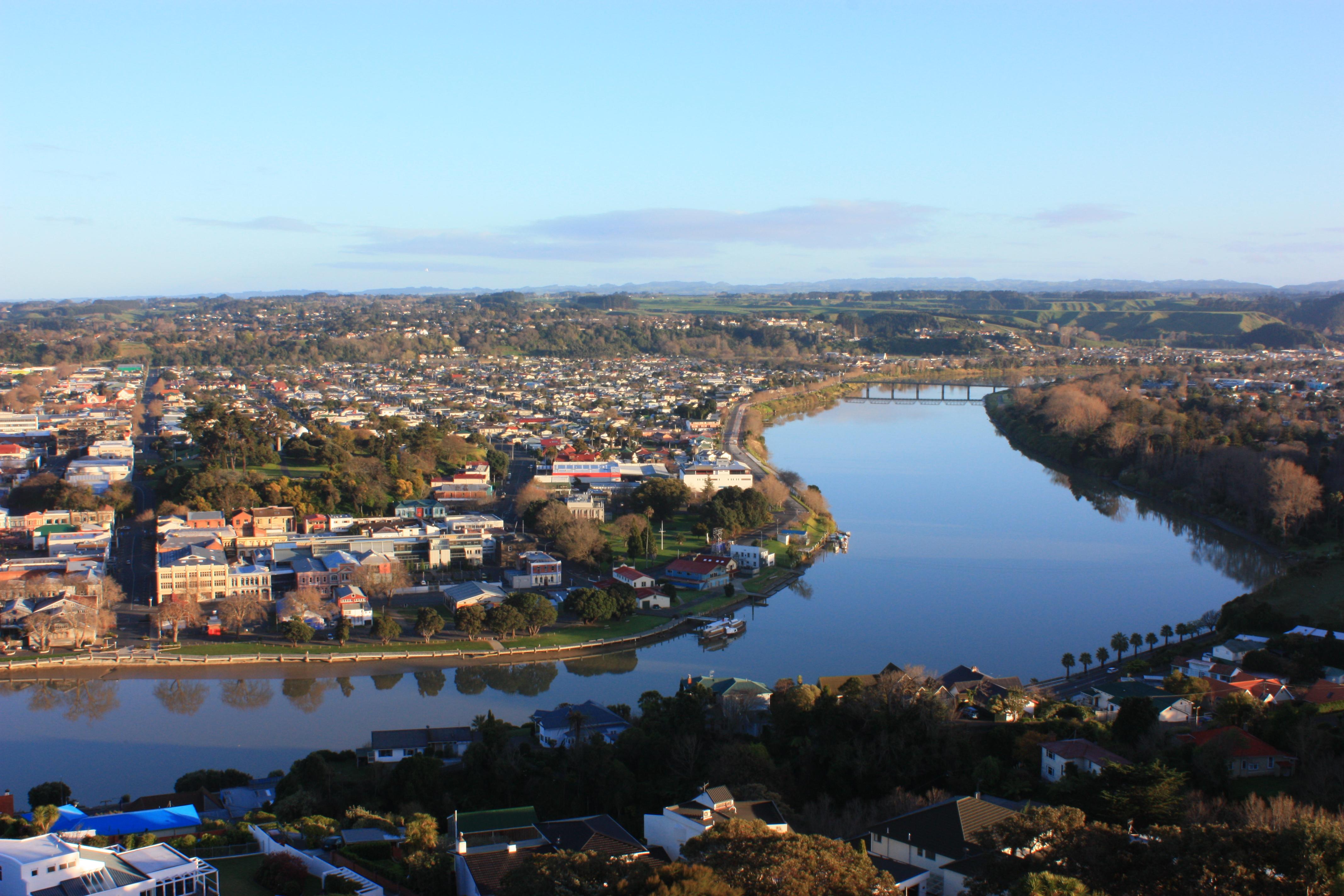 Wanganui New Zealand  city pictures gallery : Whanganui River to Dublin Street Bridge Wikimedia Commons