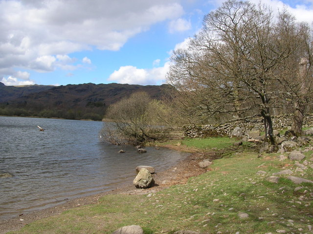 Where the Brathay leaves Elterwater - geograph.org.uk - 370768