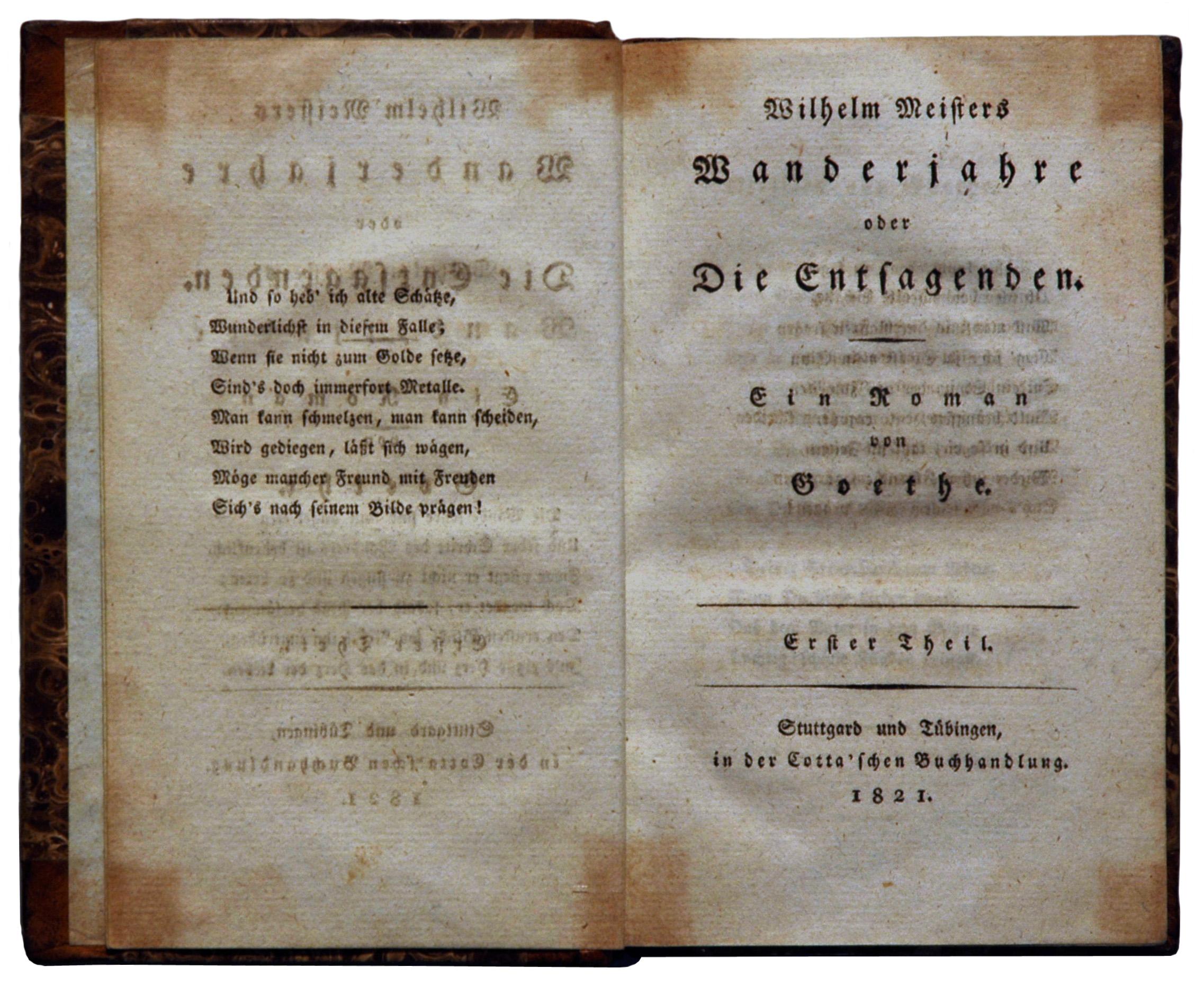 Wilhelm Meisters Wanderjahre Wikipedia