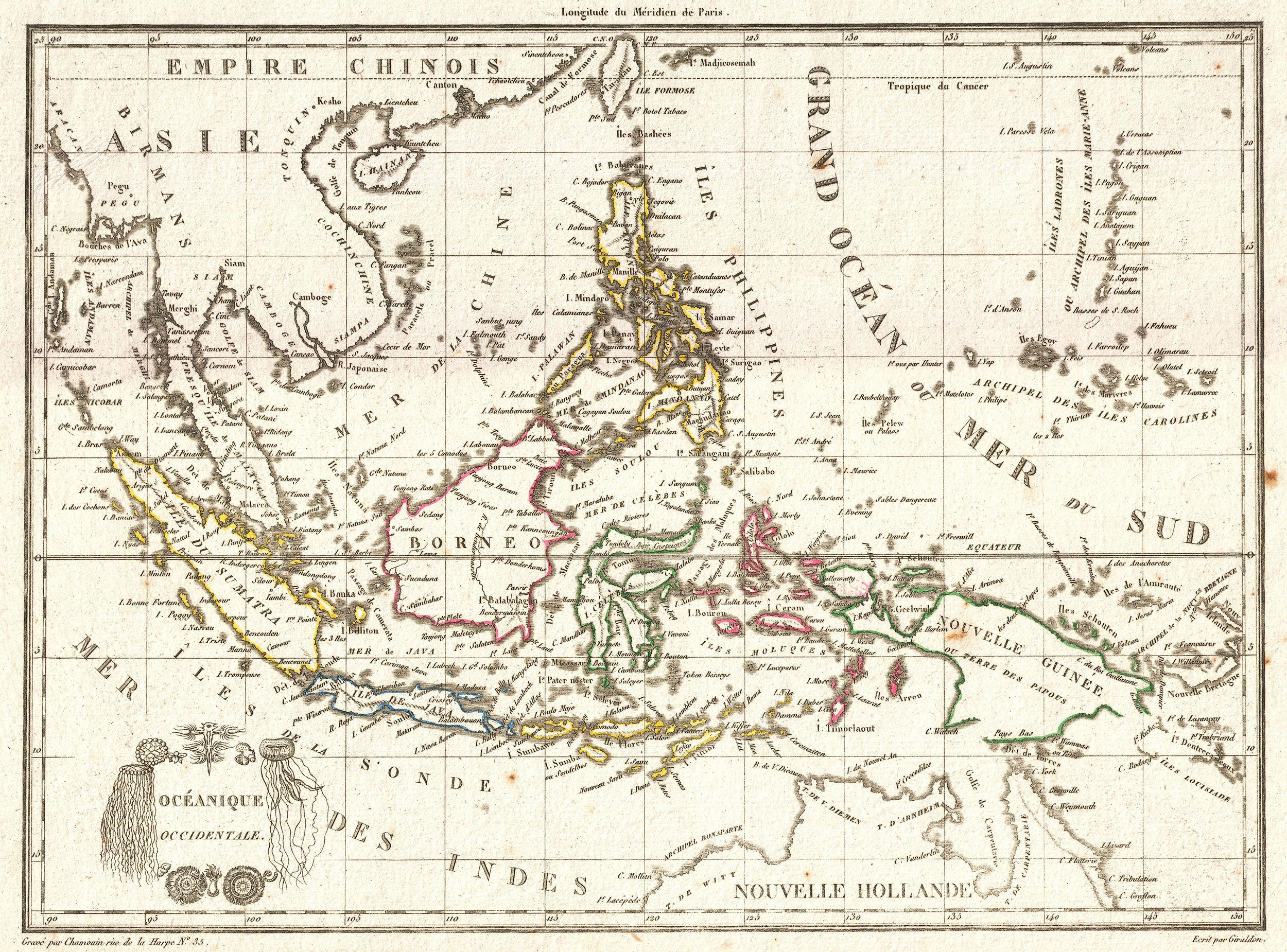 Sumatra borneo java geographicus eastindies tardieu 1810