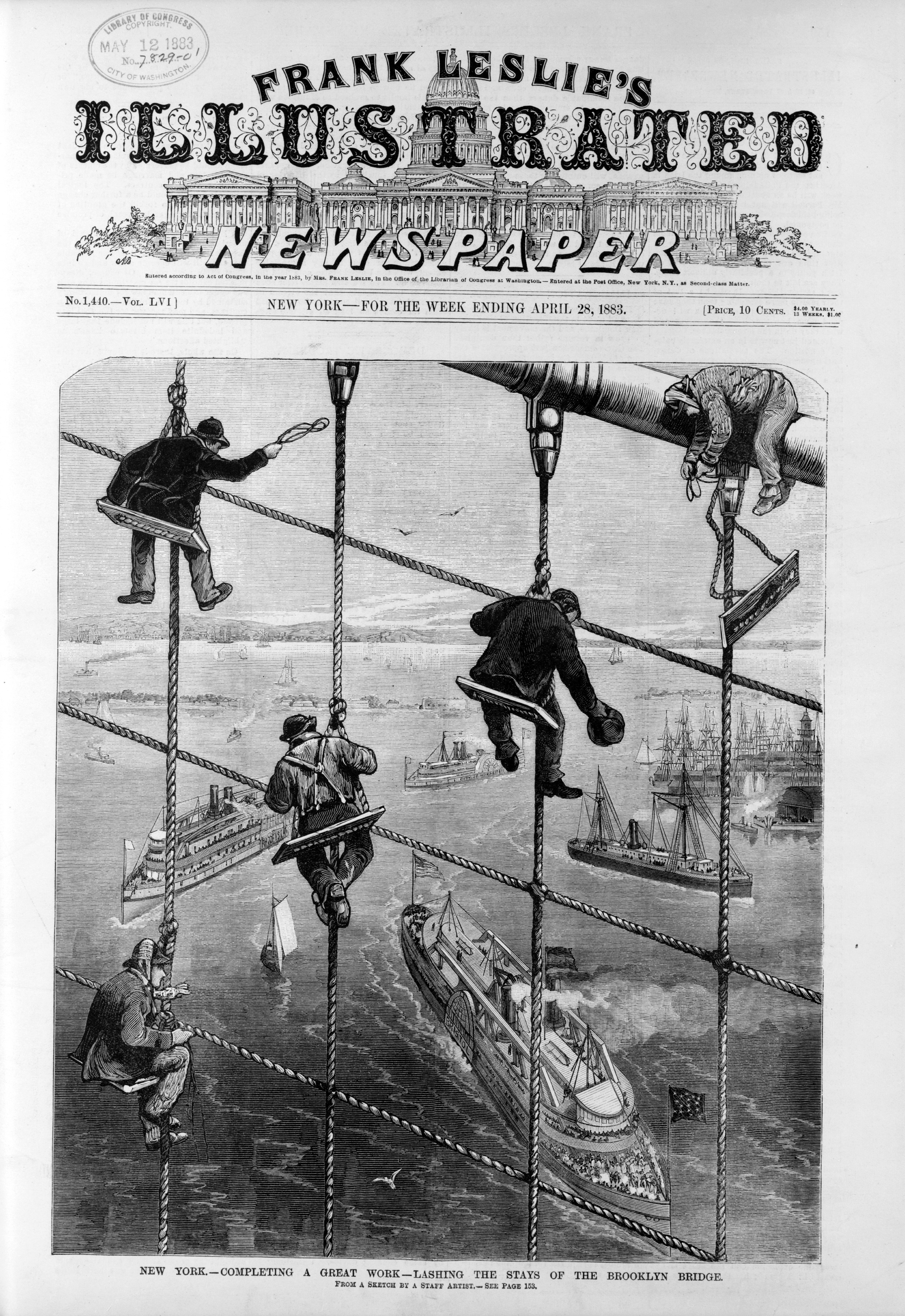 ... Frank Leslie's Illustrated Newspaper Brooklyn Bridge New York City.jpg