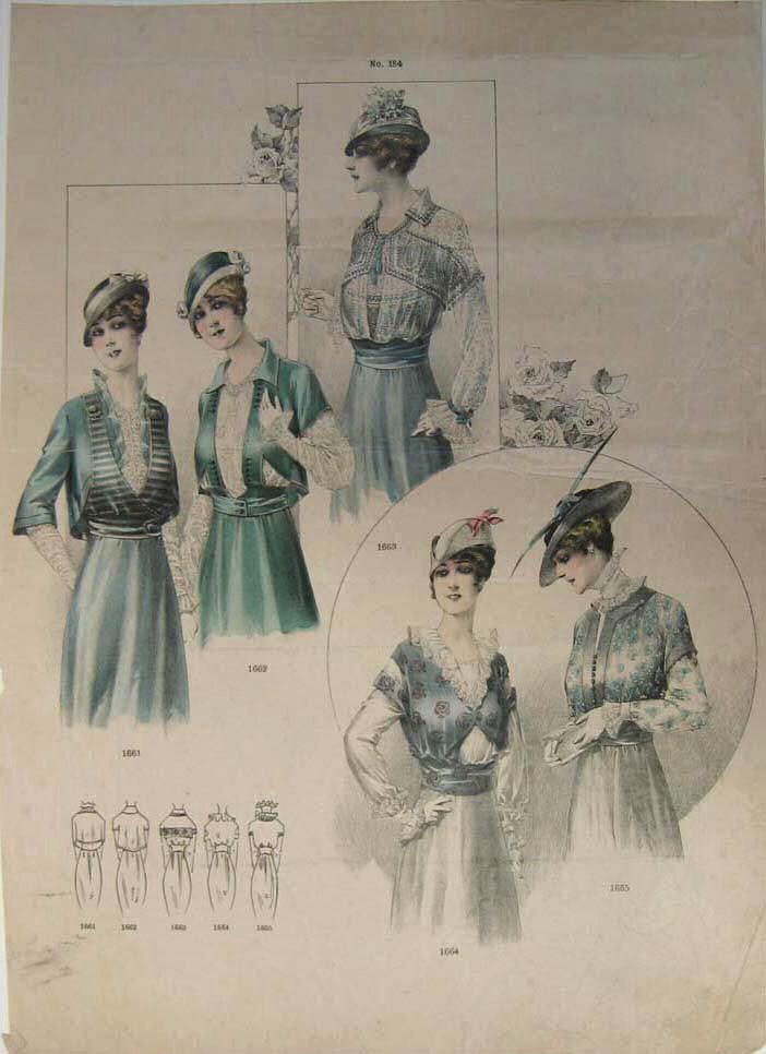 1910 fashion for women