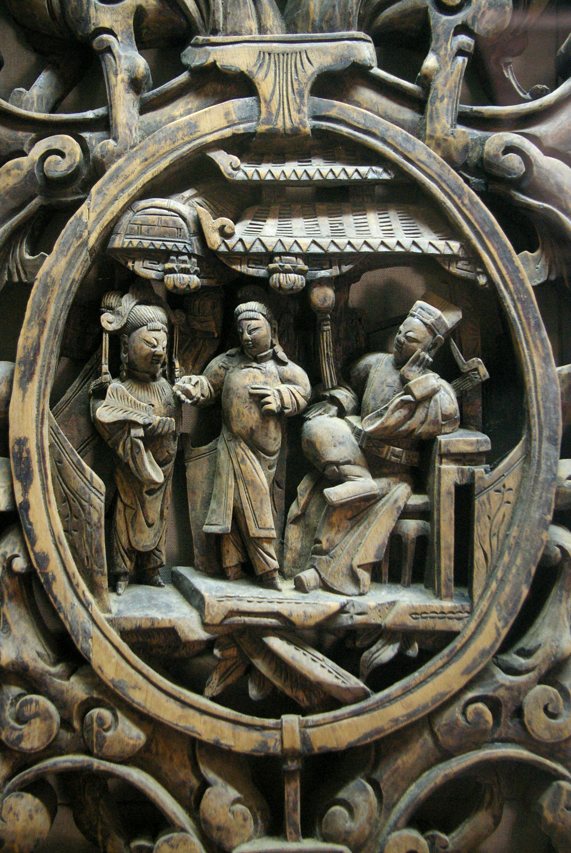 File wuzhen wooden relief carving g