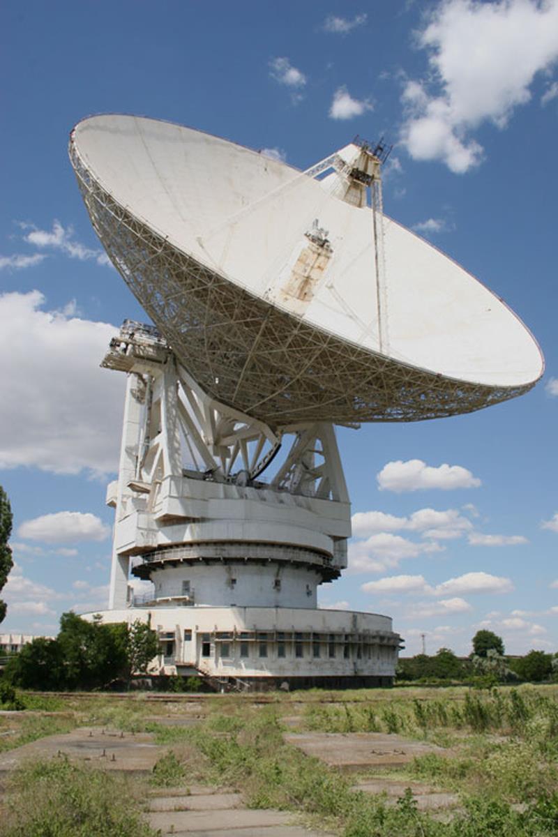 Radiotelescopio de Yevpatoriya (Ucrania), el más grande de Eurasia.
