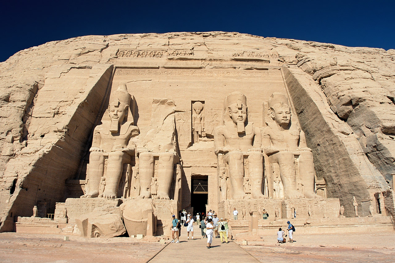 Abu Simbel Ramesses Temple front Egypt Oct 2004