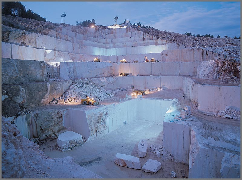 photo of marble quarry