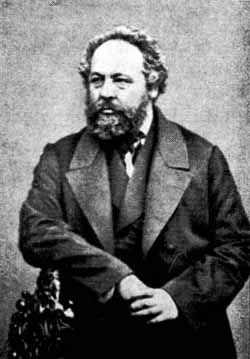 Collectivist anarchist Mikhail Bakunin clashed with Karl Marx at the Hague Congress of 1872 resulting in a schism in the First International.[75][76] Anarcho-collective's main tenet is the destruction of the state and collective ownership of the means of productions by the workers.[77]