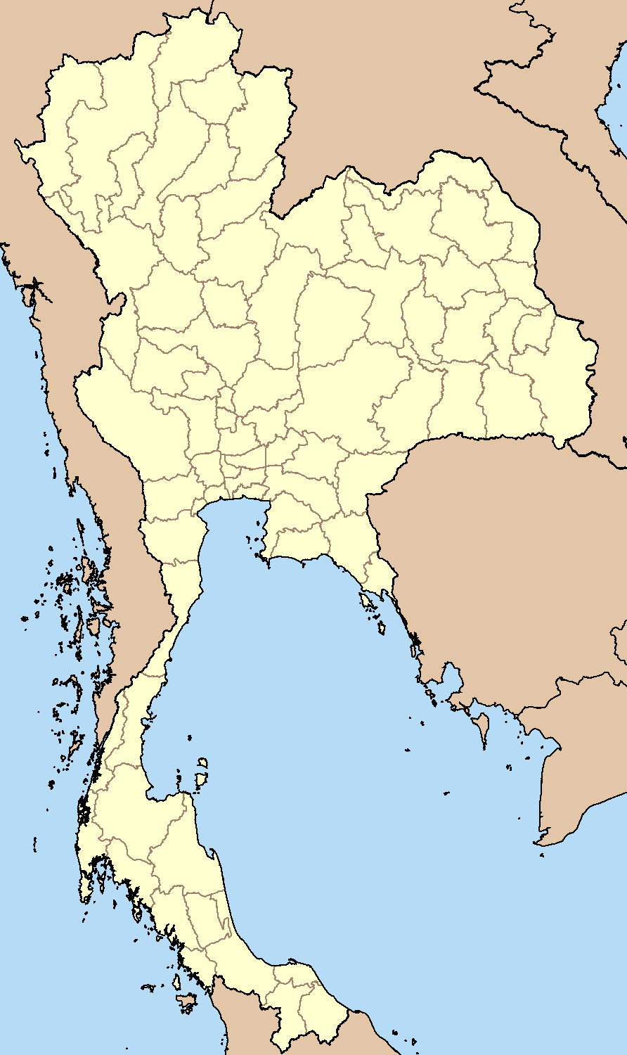 FileBlankMap Thailandpng Wikimedia Commons - Thailand blank map