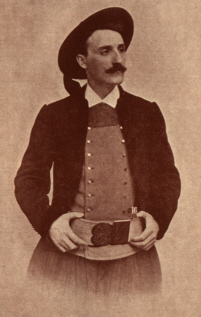 The singer-songwriter Théodore Botrel dressed in traditional Breton costume.