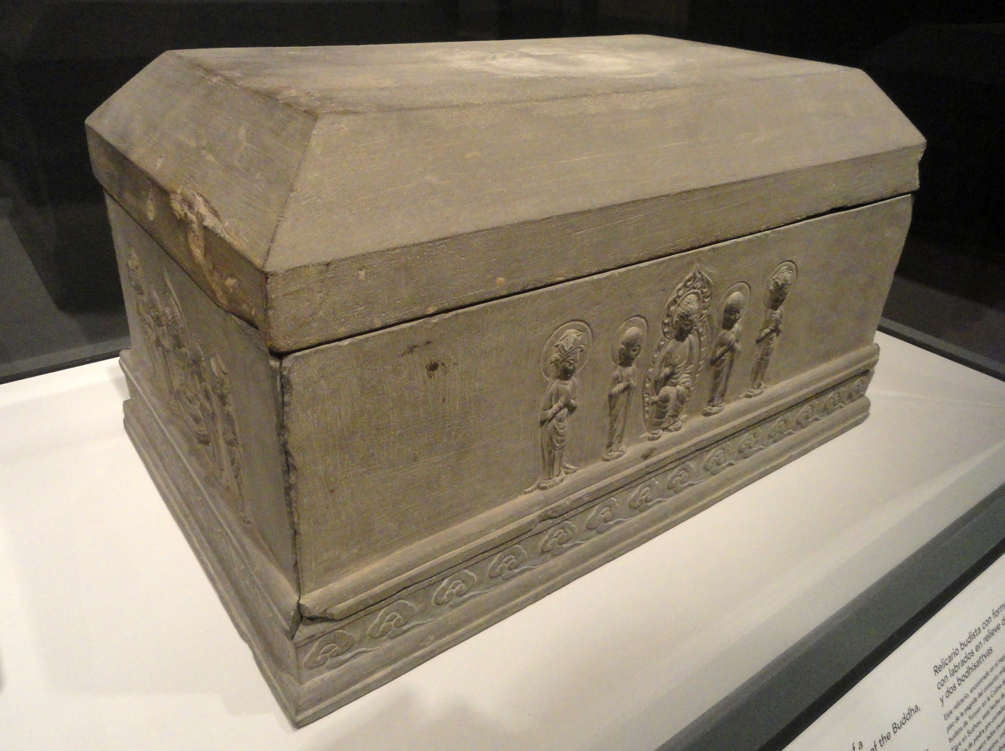 filebuddhist reliquary in the shape of a funerary casket