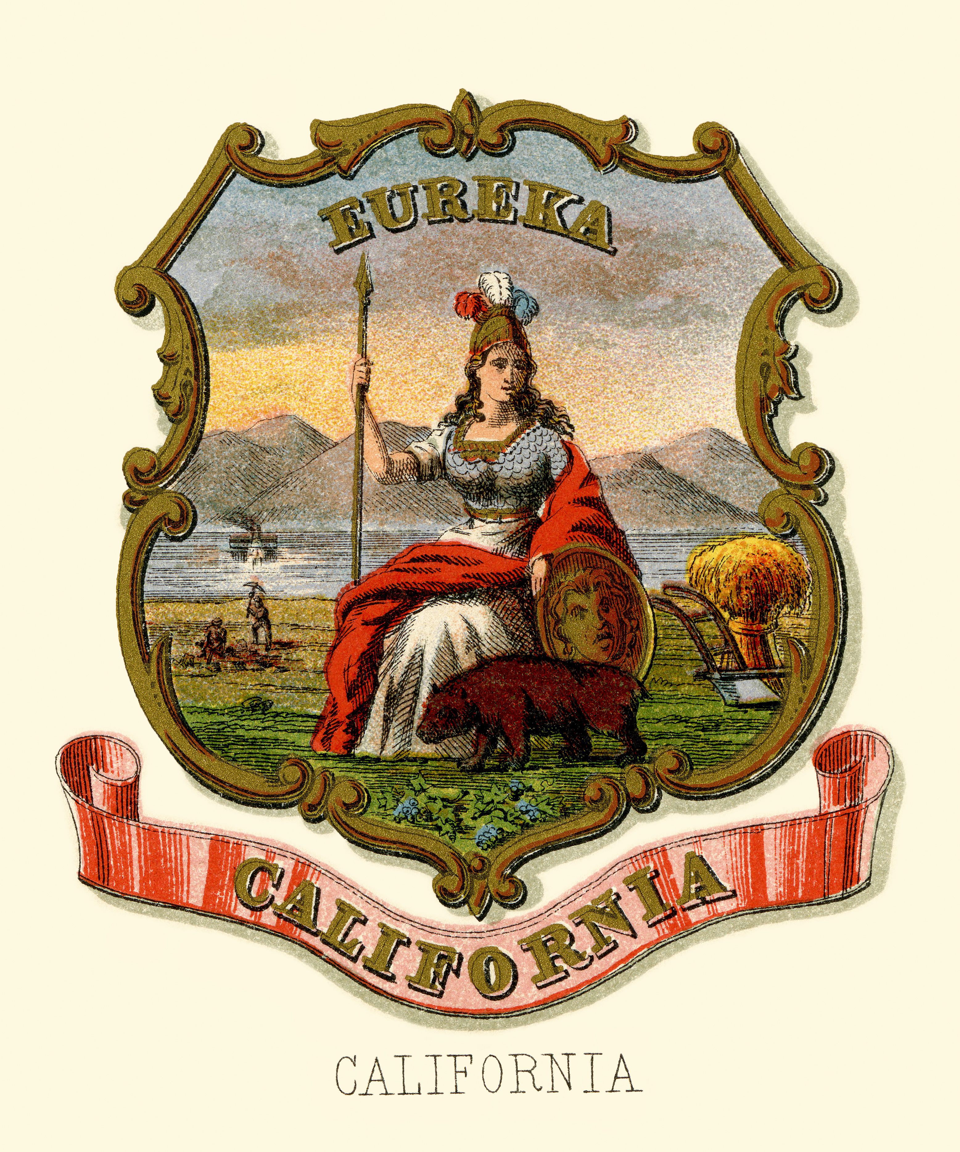 Great seal of california wikipedia california historical coat of arms illustrated 1876 biocorpaavc Images