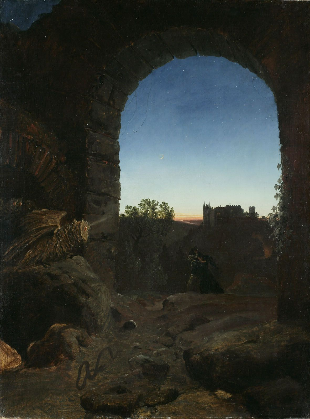 File:Carl Blechen - Romantische Landschaft mit Ruine.jpg ...
