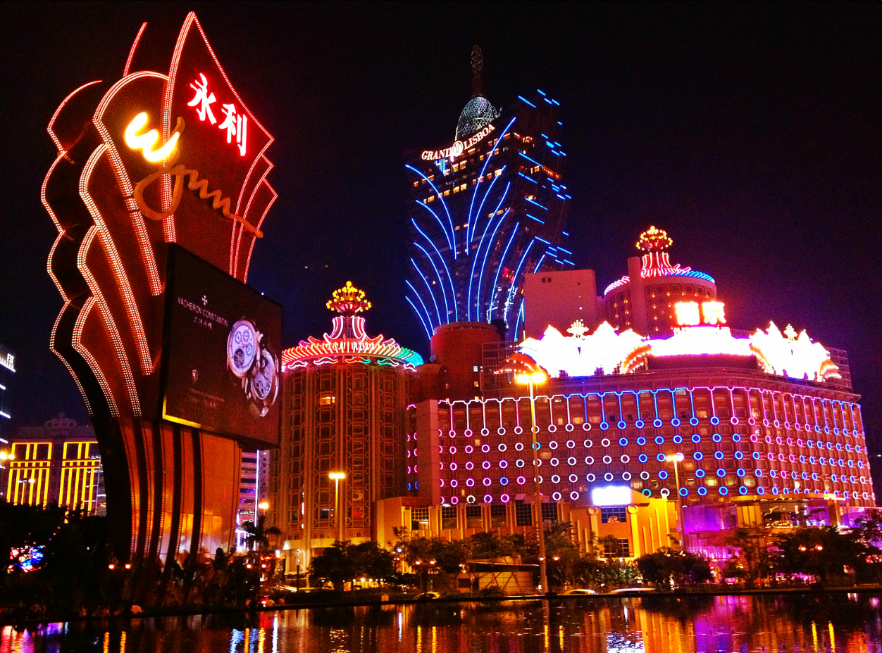 Casino Lights In Macau